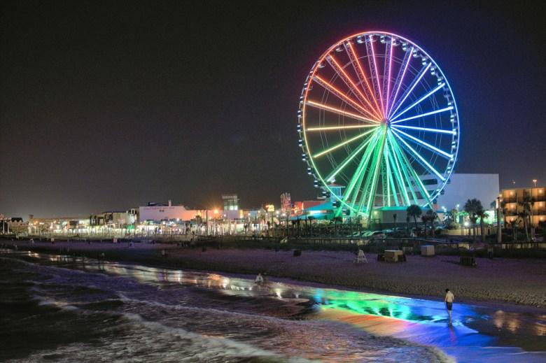 Myrtle Beach's skywheel at night. Photo Credit: Dan J, via Flickr. Licensed CC.