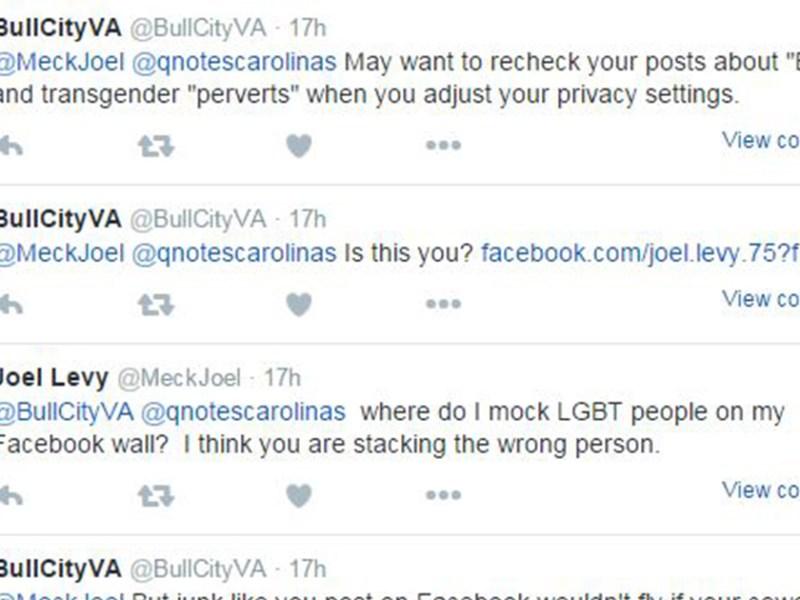 joel levy transphobic facebook