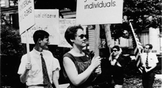 Barbara Gittings LGBT picket