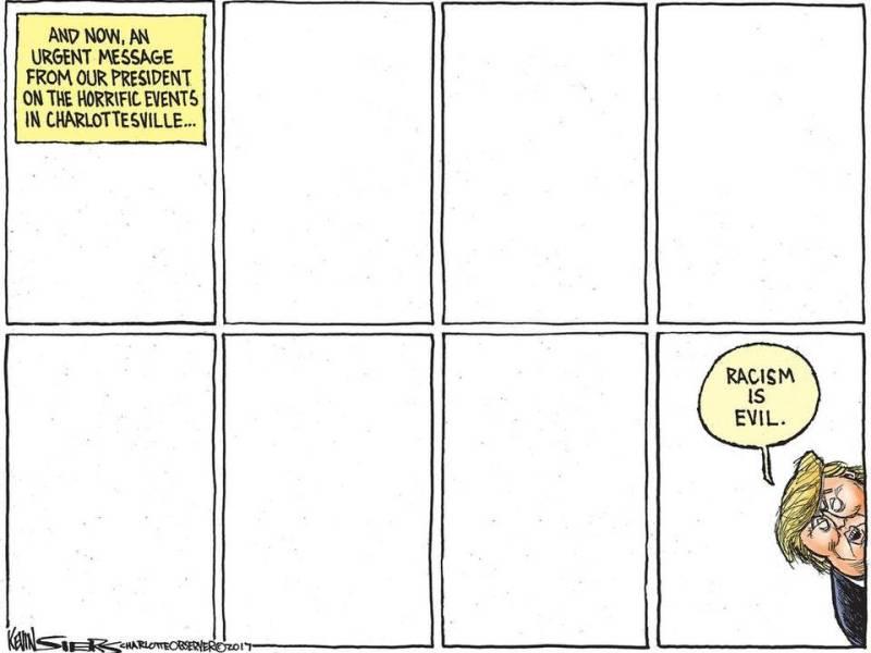 Trump Charlottesville cartoon