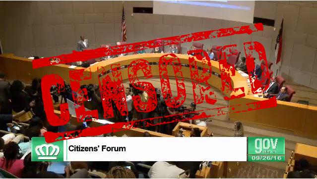 Charlotte City Council public forum