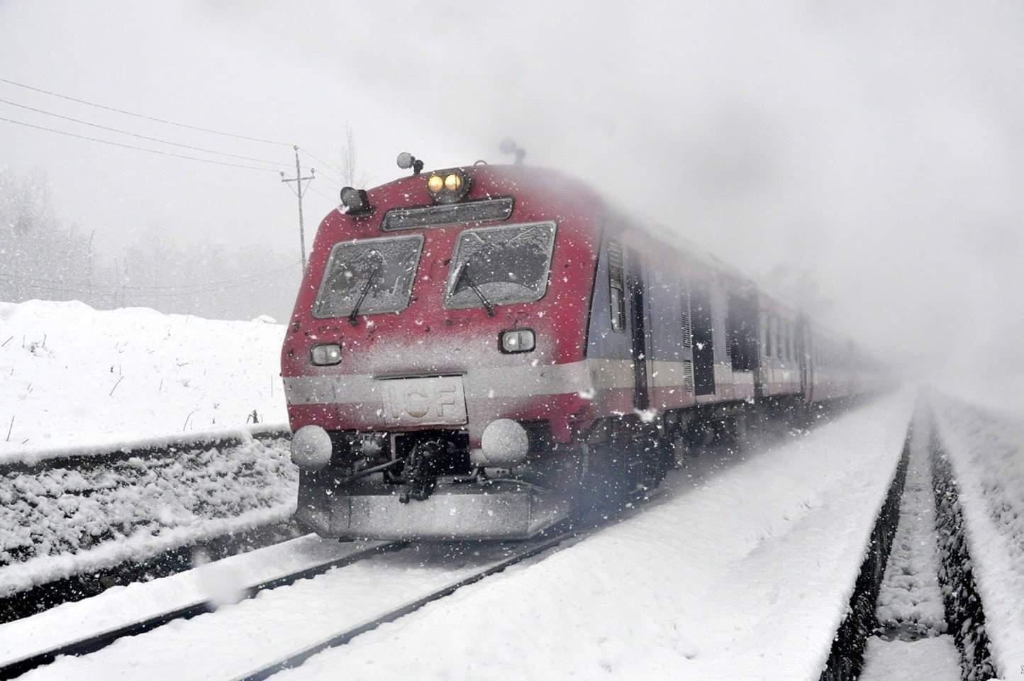 Train service remains suspended in south, resumes in north Kashmir