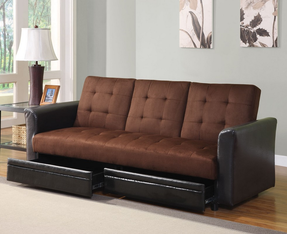 Brown Leather Sleeper Sofa Queen