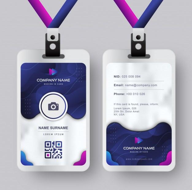 jenis ID card, contoh ID card, desain ID card, ukuran ID card, modern id card