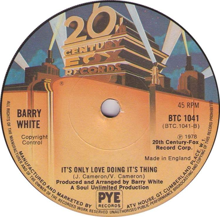 Barry White It's Only Love Doing Its Thing