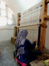 Carpet weaving vertical loom