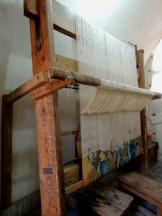 Carpet weaving vertical loom1