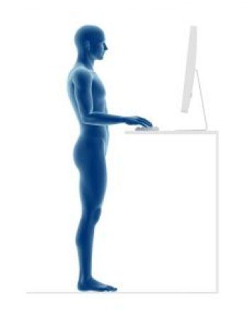 Ergonomics, proper posture to work standing