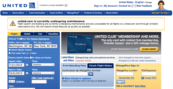 United Airlines Phone Number Reservations