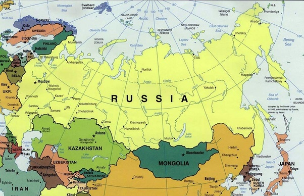Russia Sharing Countries Border