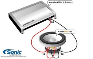 I have a jl audio 6001v2 mono amp that I want to power 2 rockford fosgate 4 ohm DVC subwoofers
