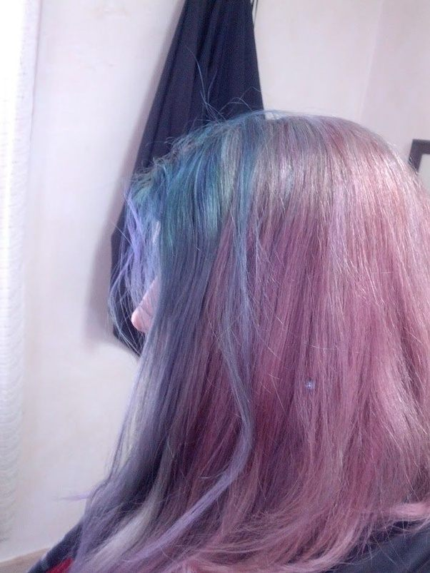How To Dye My Hair Blue If I Have Brassy Color Tones Quora