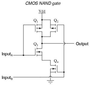 What is the switching circuit of NAND gate?  Quora