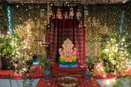 What are the best ideas for ganpati decorations    Quora Ganpati Decoration at Home With Kaliras   Kaliras look extremely pretty and decorating  Ganpati Makhar with it will make the Ganpati decoration mesmerizing