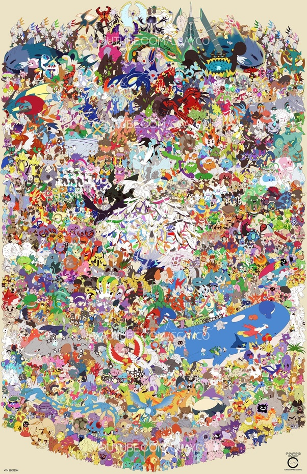 How many Pokemon are there from gen 1 to gen 7? - Quora