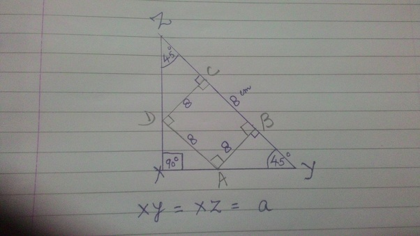 if xyz is a right angle triangle