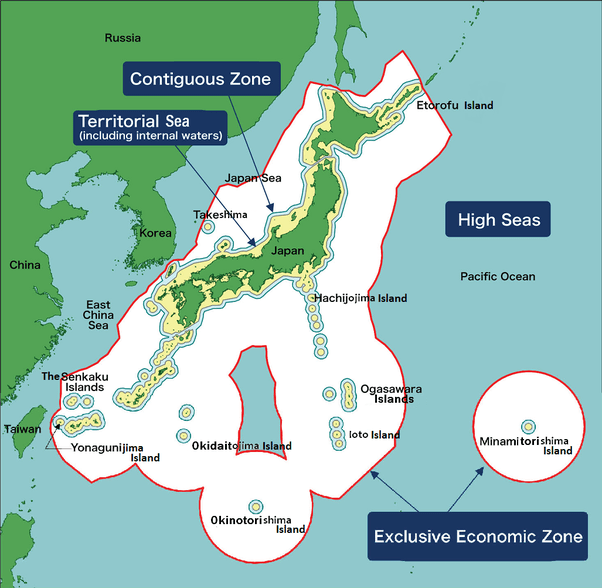 Japan And Russia Seas Map