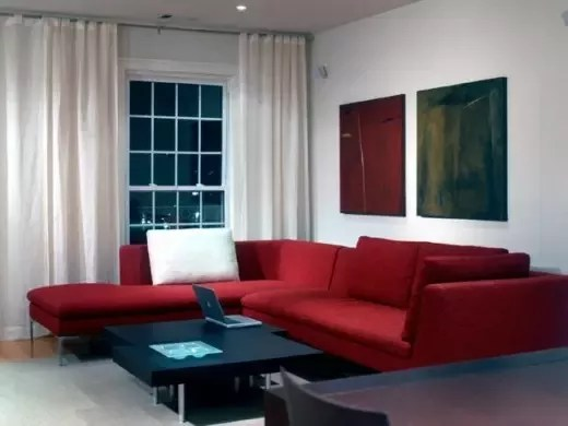 what color area rug complements a red