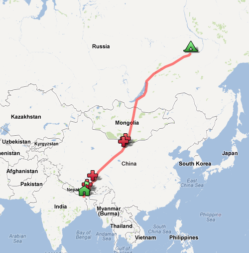 Siberia Trek Map India