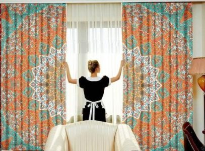 What color of curtains will go with orange walls    Quora I think you should try the mandala design with orange and yellow color  because I have used already in my room  This is very beautiful color  combination
