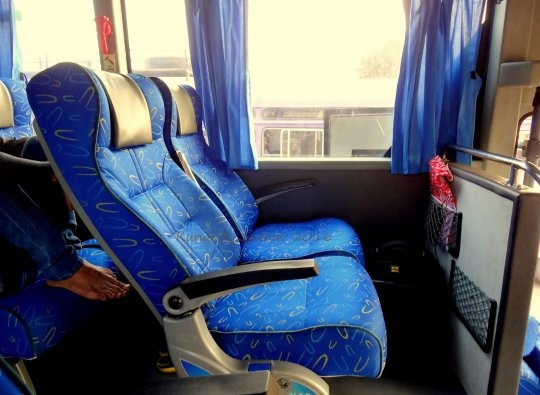 Airavat Bus Interior