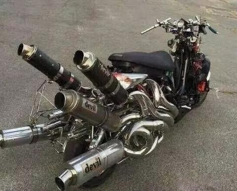 motorcycle by changing the exhaust