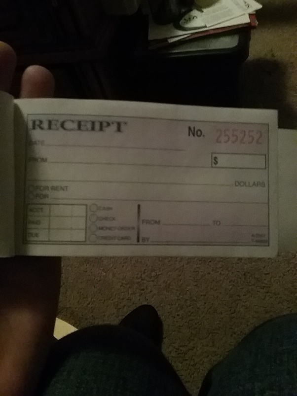 How To Fill Out A Money Rent Receipt Book For House Cleaning