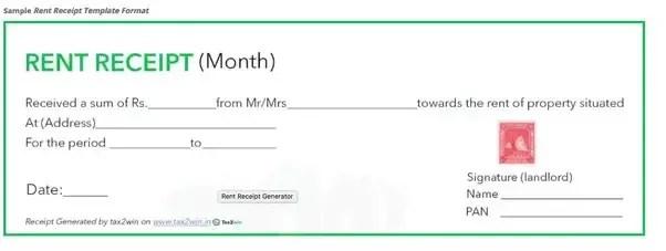 How Should I Fill A Rent Receipt Quora