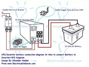 Does current flow in the reverse direction from the AC outlet of the batterybased inverter in