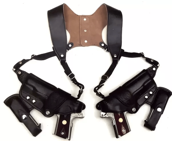 Leather Gun Holster Shoulder Strap