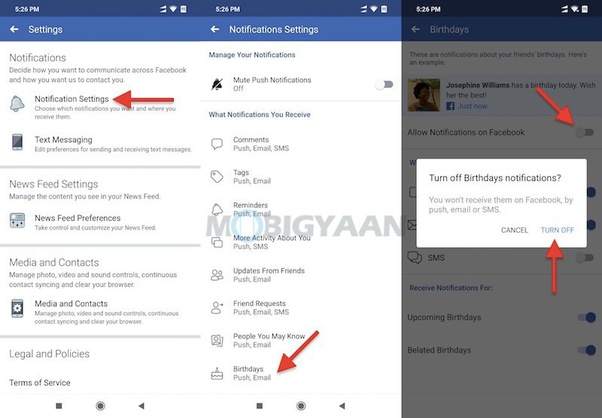 How To Disable Birthday Notifications From Facebook Quora