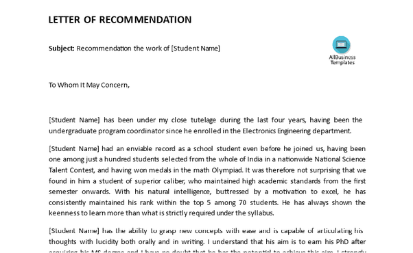 How To Get Good Letters Of Recommendation