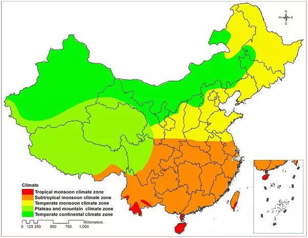 Beijing China Map Climate
