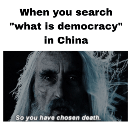 Why Do You Think The Meme Of Saruman Saying So You Have Chosen