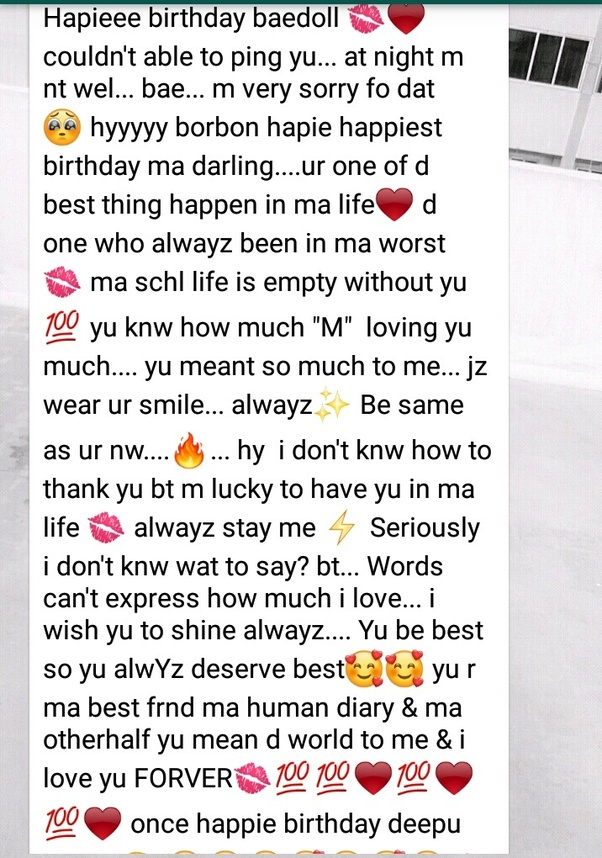 Text Messages Instagram Birthday Paragraph For Best Friend Animaltree