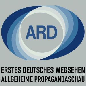 Aufgabe des öffentlich-rechtlichen Rundfunks Beitragsservice Erstes Deutsches Wegsehen Altes-ARD_Logo Deutsche Allgemeine Propagandaschau Staatspropaganda qpress quadrat