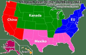 USA nach dem dritten weltkrieg besatzungszonen china Kanada Russalnd japan Mexiko EU qpress