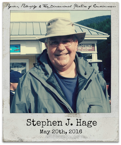 """5.20.16 Stephen J. Hage: """"Let There Be Light: Physics, Philosophy & the Dimensional Structure of Consciousness"""""""