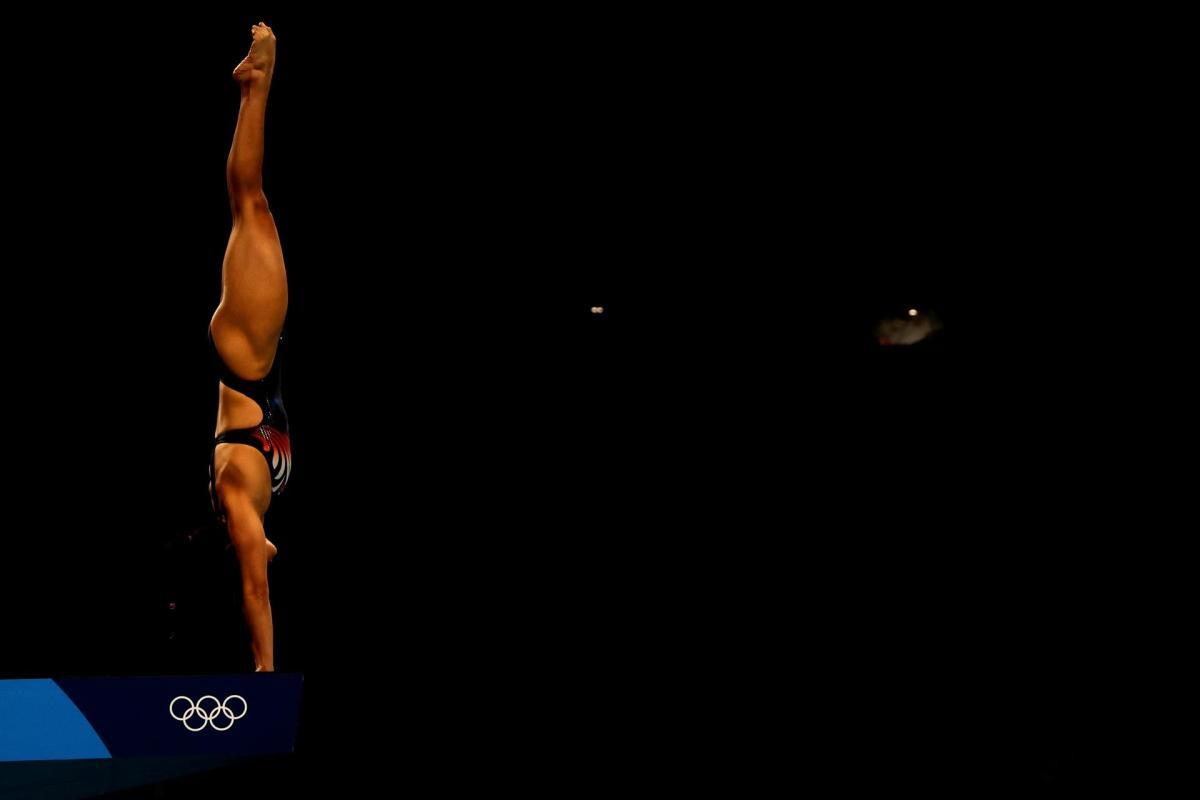 Gabriela Agúndez de México compite durante la final de plataforma 10m femenina de saltos, en los Juegos Olímpicos 2020, este jueves en el Centro Acuático de Tokio (Japón). EFE/ Fernando Bizerra