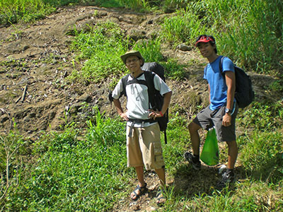 Mar (The Forefoot Runner) and myself before starting the climb