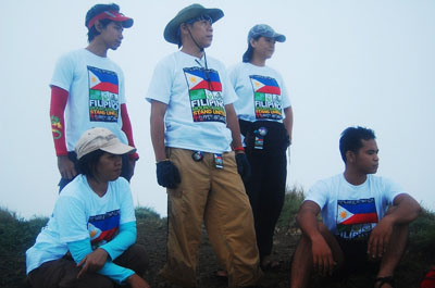 With our event shirt on