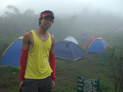 At the last camping area before the summit