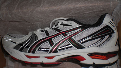 Asics Gel Kayano 13 (kind of looks like a Ferrari)