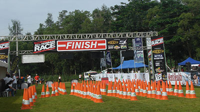 View of the finish line