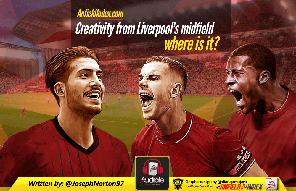 Creativity from Liverpool's midfield....where is it?