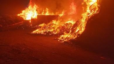 صورة باقه الغربيه.اشعال النيران في مكب نفايات وبستر الله لم تقع ضحايا او احتراق  عشرات المنازل .