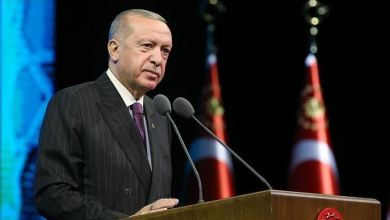 صورة أردوغان يتسلم أوراق اعتماد سفيرة مالطا لدى أنقرة