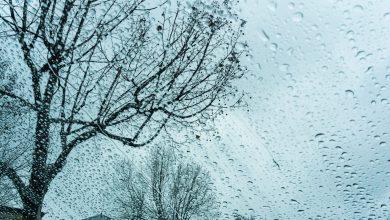 صورة حالة الطقس: منخفض جوي وامطار
