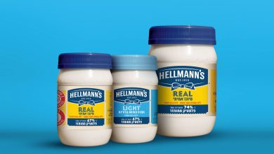 """صورة لأول مرة في مجال الغذاء في البلاد – """"هيلمانز""""، منتجة الصلصات والمدهونات الأقدم، تطلق مايونيز برزم بلاستيك معاد تدويره"""
