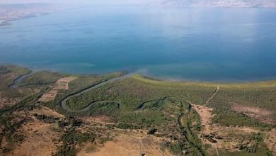 صورة رتفاع  بمنسوب المياه ببحيرة طبريا